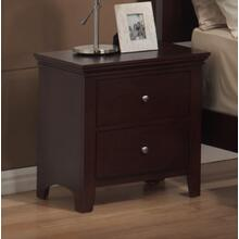 LE Charmel Solid Wood Construction Fully Assembled Night Stand Cherry Finish
