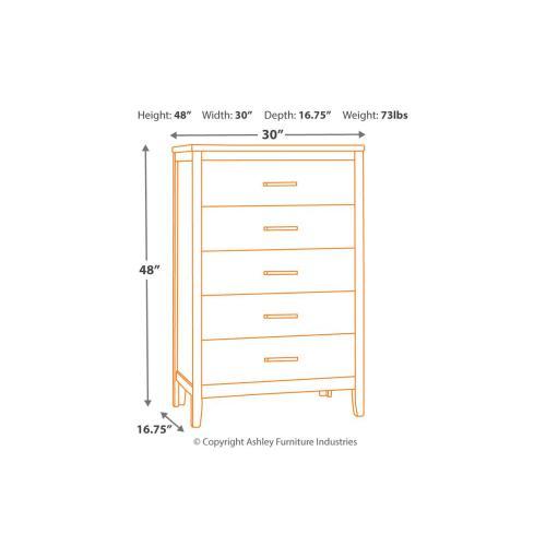 Signature Design By Ashley - B560 Five Drawer Chest (Olivet)