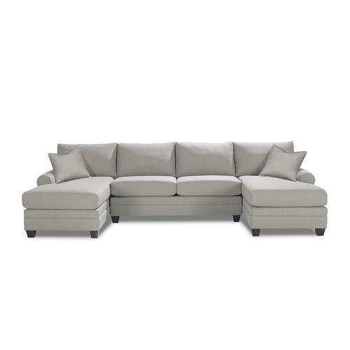 CU.2 Double Chaise Sectional, Arm Style Track