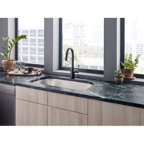 Product Image - Align Matte black one-handle high arc pulldown kitchen faucet
