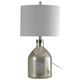 Mercury Glass Table Lamp with French Wire