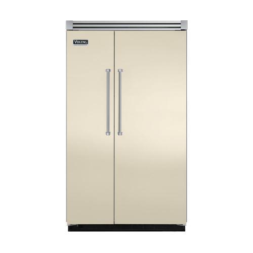"Viking - Biscuit 48"" Quiet Cool™ Side-by-Side Refrigerator/Freezer - VISB Tru-Flush™ (48"" wide)"