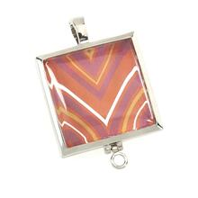 BTQ MJ Square Silver Prints Charming Locket
