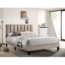 Lyric Full Platform Bed Grey Velvet