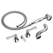 Two-handle Tub Filler Trim Kit With Lever Handles
