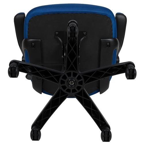 Flash Furniture - High Back Blue Mesh Ergonomic Swivel Office Chair with Black Frame and Flip-up Arms