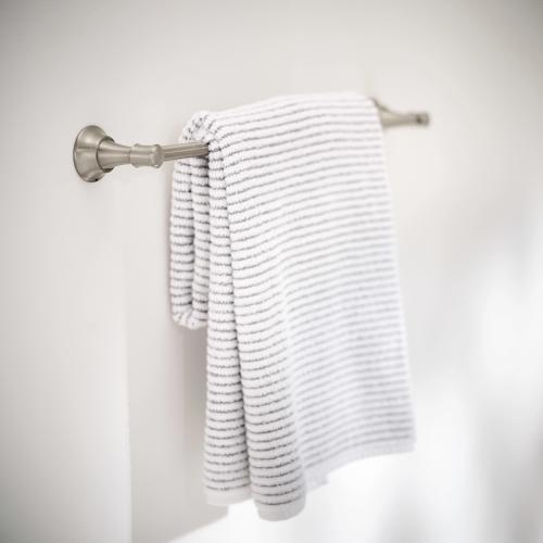 "Gilmour Spot resist brushed nickel 24"" towel bar"