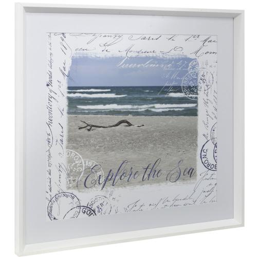 Style Craft - EXPLORE THE SEA  25in w X 25in ht  Framed Print Under Glass with Matte