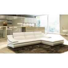 Divani Casa 5076B White Bonded Leather Sectional Sofa