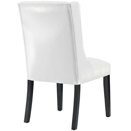 Baronet Vinyl Dining Chair in White