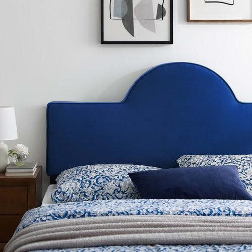 Dawn King/California King Performance Velvet Headboard in Navy