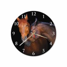 Horse Love Round Acrylic Wall Clock