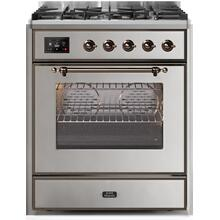 """30"""" Inch Stainless Steel Natural Gas Freestanding Range"""