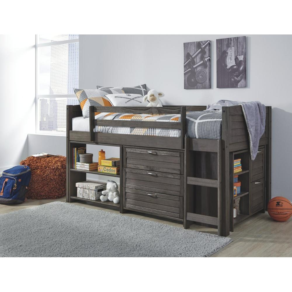 Caitbrook Twin Loft Bed With 1 Large Storage Drawer