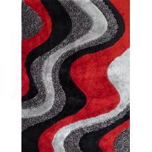 """Designer Shag S.V.D. 29 Area Rug by Rug Factory Plus - 7'6"""" x 10'3"""" / Red"""