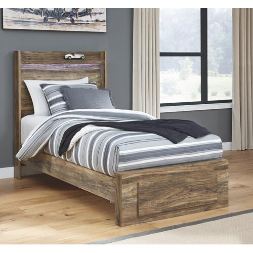 Signature Design By Ashley - Rusthaven Twin Panel Bed With 1 Storage Drawer