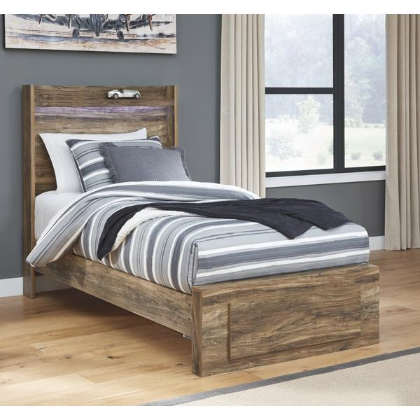 Rusthaven Twin Panel Bed With 1 Storage Drawer