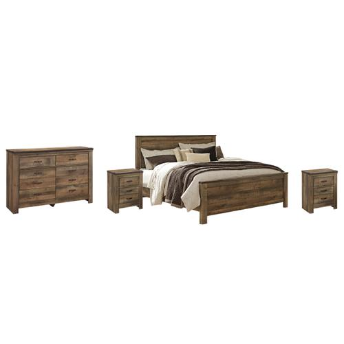 Ashley - King Panel Bed With Dresser and 2 Nightstands