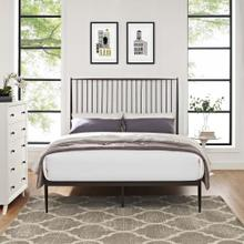Annika Queen Platform Bed in Brown