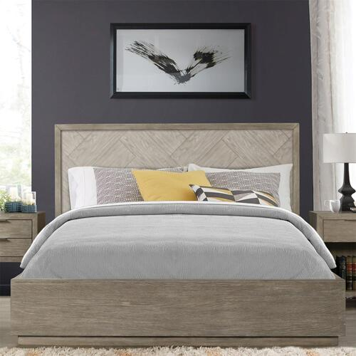 Zoey - California King Single Bed Rail - Urban Gray Finish
