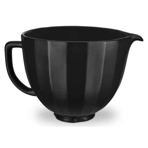 5 Quart Black Shell Ceramic Bowl