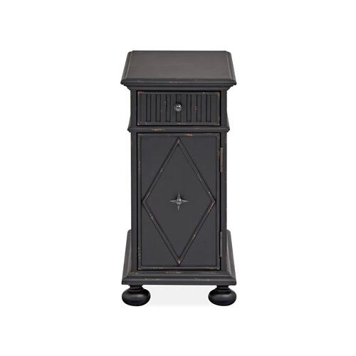 Chairside End Table - Weathered Midnight