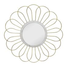 """See Details - Metal 35"""" Daisy Mirror, Gold Wb"""
