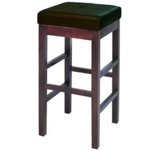 See Details - Valencia Backless Leather Bar Stool, Brown