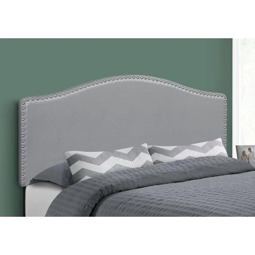 Gallery - BED - QUEEN SIZE / GREY LEATHER-LOOK HEADBOARD ONLY