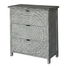 Priscilla Light Grey Whitewash 3 Drawer Pattern Chest