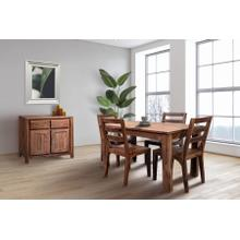 """See Details - Urban 52"""" Dining Table Set With 24"""" Butterfly Extension, HC1126S01"""