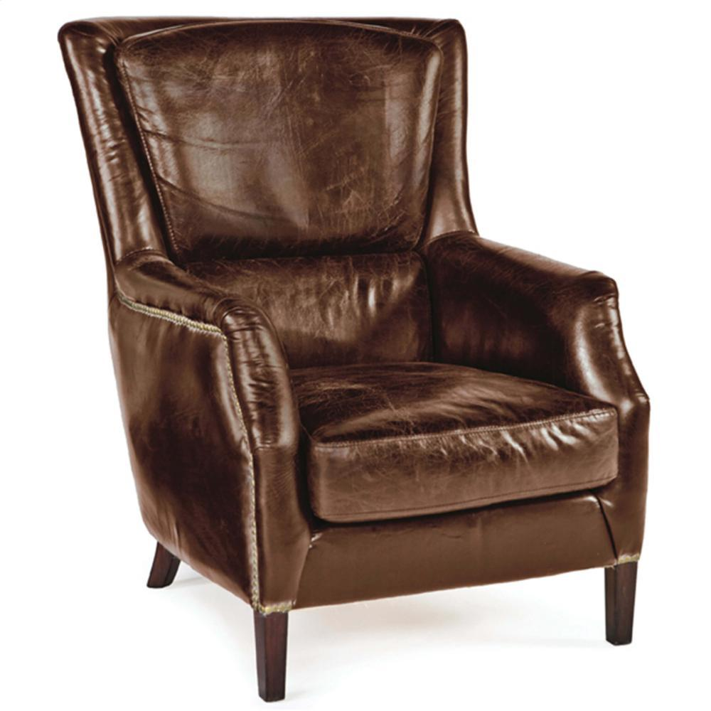 Leather Garconniere Chair (brown)
