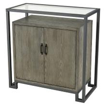 Mezzanine 2-door Cabinet In Pewter