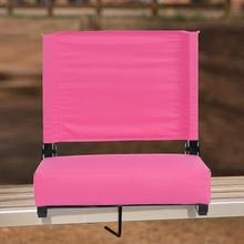 See Details - Grandstand Comfort Seats by Flash - 500 lb. Rated Lightweight Stadium Chair with Handle & Ultra-Padded Seat, Pink