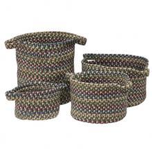 """American Farmhouse 4-Set Vintage Bskts Basket AF09 Slate 10"""" X 7"""""""