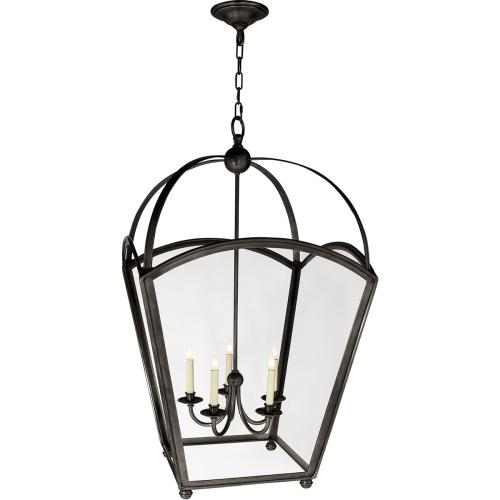 Visual Comfort CHC3441BZ E. F. Chapman Arch Top 5 Light 26 inch Bronze Foyer Pendant Ceiling Light