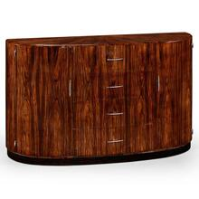Art Deco demilune sideboard with stainless steel (Satin)