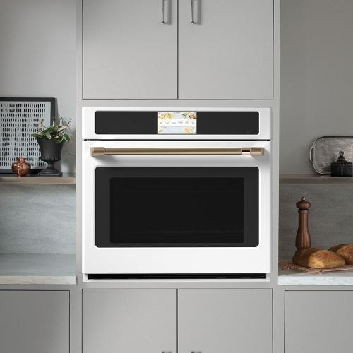 "Café 30"" Built-In Convection Single Wall Oven Matte White"