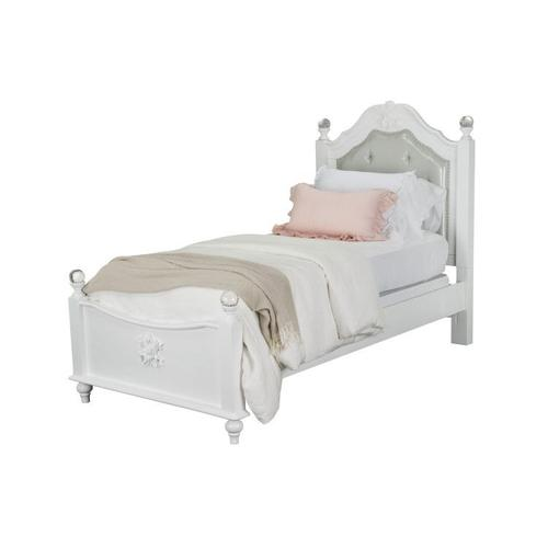 Olivia Twin Poster Bed, White