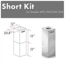 See Details - ZLINE 2-12 in. Short Chimney Pieces (SK-697i/KECOMi-304)
