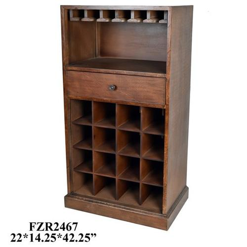 """Crestview Collections - 22X14.25X42.25"""" WOOD WINE CABINET, 1PC PK, 11.52'"""