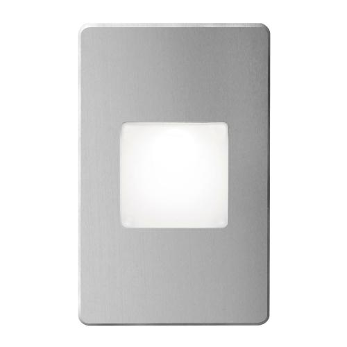 Brushed Alum Rectangle In/out 3w LED