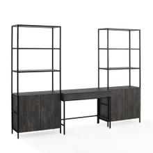 JACOBSEN 3PC DESK & ETAGERE SET