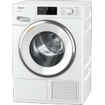 MieleTXI680WP Eco & Steam - T1 Heat-pump tumble dryer with Miele@home and SteamFinish for smart laundry care.