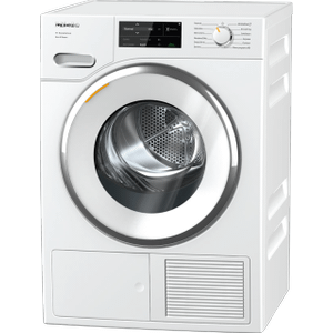 MieleTXI 680 WP Eco & Steam - T1 Heat-pump tumble dryer with Miele@home and SteamFinish for smart laundry care.