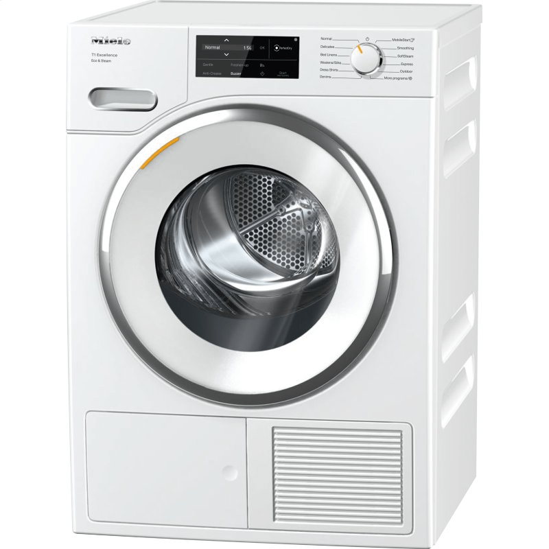 TXI680WP Eco & Steam - T1 Heat-pump tumble dryer with Miele@home and SteamFinish for smart laundry care.