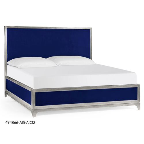 Alexander Julian UK Queen bed (Royal Navy/Silver)