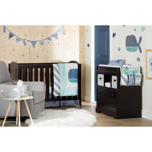 Dreamit - Little Whale 3-Piece Baby Crib Bed Set and Pillow, Blue, Crib