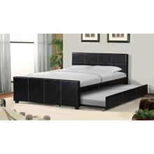 7526 PU Platform Bed with Trundle - FULL