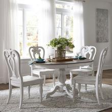 See Details - 5 Piece Pedestal Table Set